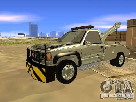 GMC Sierra Tow Truck для GTA San Andreas вид слева