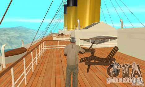 RMS Titanic для GTA San Andreas вид сбоку