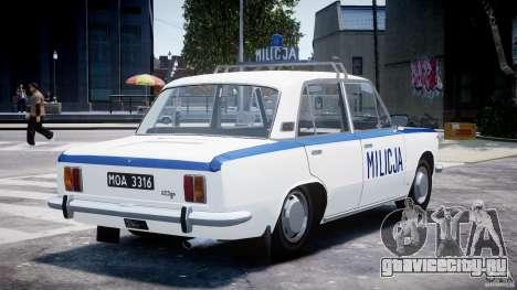 Fiat 125p Polski Milicja для GTA 4 вид сбоку