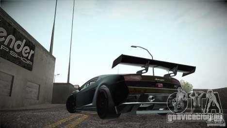 Lamborghini Gallardo LP560-4 GT3 для GTA San Andreas вид изнутри