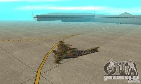 Очень красивый самолет из TimeShift для GTA San Andreas вид сзади слева