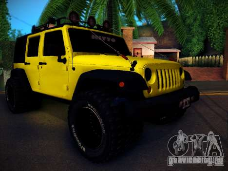 Jeep Wrangler 4x4 для GTA San Andreas