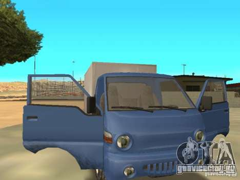 Hyundai Porter для GTA San Andreas вид сзади