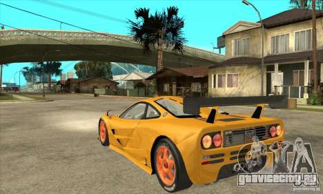 McLAREN F1 GTR GULF 1996 для GTA San Andreas вид сзади слева