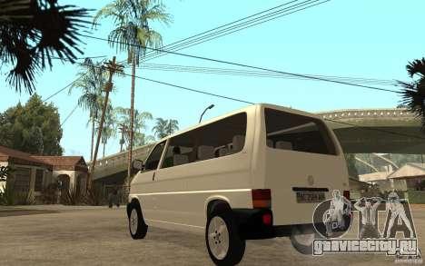 Volkswagen Transporter T4 для GTA San Andreas вид сзади слева