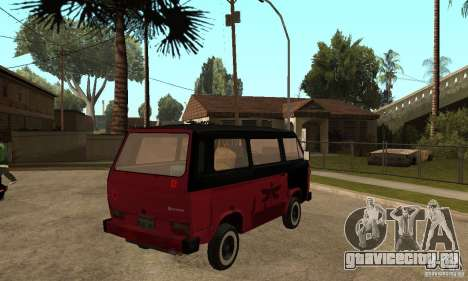 Volkswagen T3 Rusty для GTA San Andreas вид справа