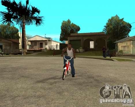 Велосипед GTA SA Tair Bike для GTA San Andreas вид сзади