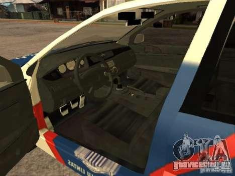 Mitsubishi Lancer Police Indonesia для GTA San Andreas вид сзади слева