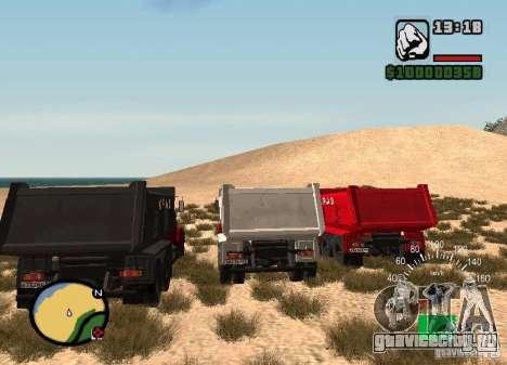 KrAZ 65055 Самосвал для GTA San Andreas вид сзади слева