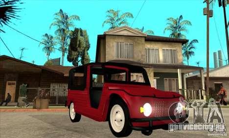 Citroen Mehari для GTA San Andreas вид сзади