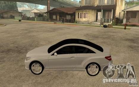 Mercedes Benz E-CLASS Coupe для GTA San Andreas вид слева