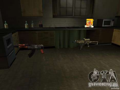 Отечественное оружие - версия 1.5 для GTA San Andreas