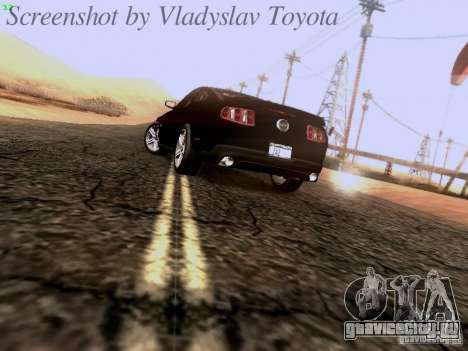 Ford Mustang GT 2011 Unmarked для GTA San Andreas вид сзади слева