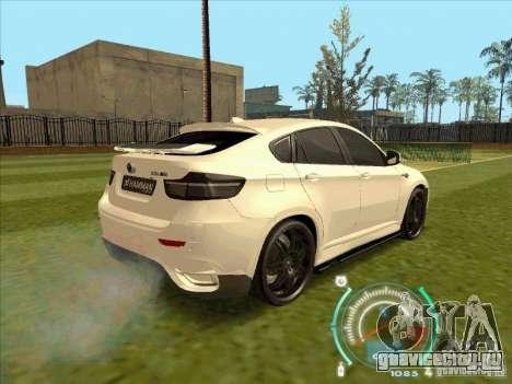 BMW X6 M Hamann Design для GTA San Andreas вид слева