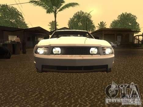 Ford Mustang 2011 GT для GTA San Andreas вид сверху