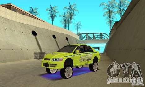 Улучшенная синяя неоновая подсветка для GTA San Andreas третий скриншот