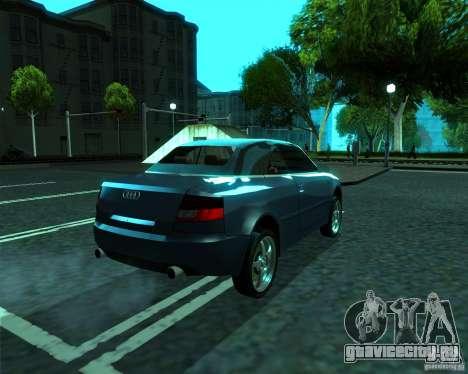Audi A4 Cabrio для GTA San Andreas вид сзади слева
