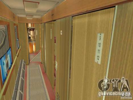 Пассажирский вагон купе 029-28802 для GTA San Andreas вид изнутри