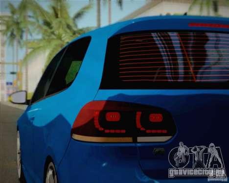 Volkswagen Golf R 2010 для GTA San Andreas вид сбоку