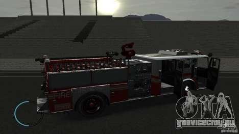 NEW Fire Truck для GTA 4 вид сзади
