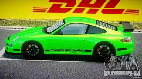 Porsche 997 GT3 RS для GTA 4 вид сзади слева