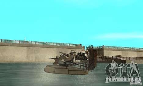 HL2 Airboat для GTA San Andreas вид сзади слева