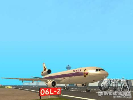 McDonell Douglas  DC 10 Thai Airways для GTA San Andreas вид слева
