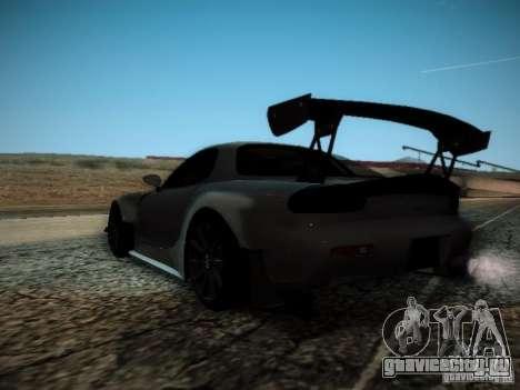 Mazda RX7 Drift для GTA San Andreas вид сзади слева