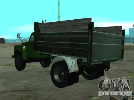 ГАЗ 53 Самосвал для GTA San Andreas вид сзади слева