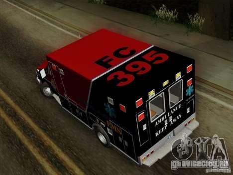 Ford E-350 AMR. Bone County Ambulance для GTA San Andreas вид изнутри