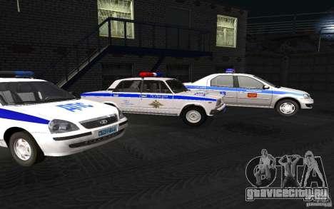 Ваз 2107 ДПС Полиция Жигули для GTA San Andreas вид справа