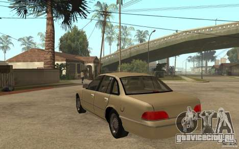Ford Crown Victoria LX 1992 для GTA San Andreas вид сзади слева