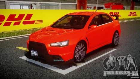 Mitsubishi Lancer Evo X 2011 для GTA 4