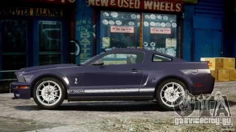 Shelby GT500KR 2008 для GTA 4 вид изнутри