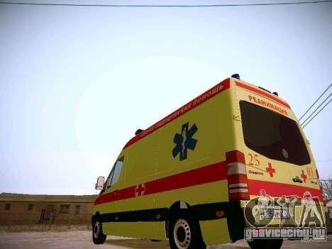 Mercedes Benz Sprinter Ambulance для GTA San Andreas вид сзади
