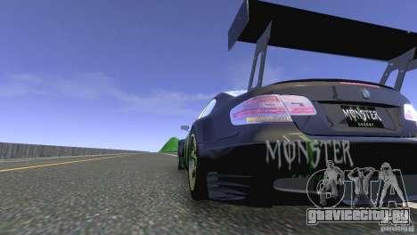 BMW M3 Monster Energy для GTA 4 вид сзади слева