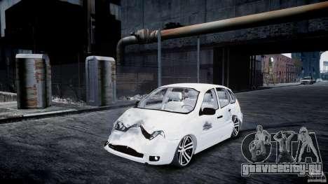 Lada Kalina Tuning для GTA 4 вид изнутри