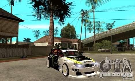 Subaru Impreza 2009 (Ken Block) для GTA San Andreas вид сзади