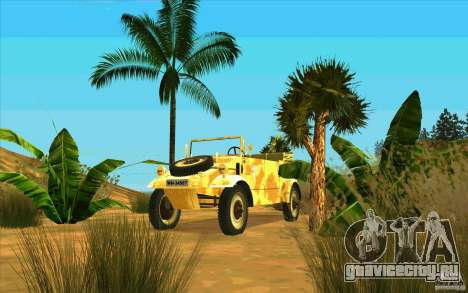 Kuebelwagen v2.0 desert для GTA San Andreas вид сзади