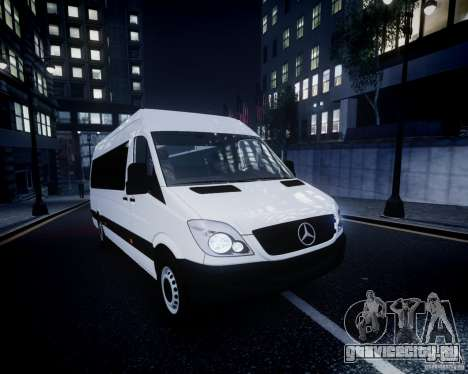 Mercedes-Benz Sprinter Long для GTA 4 салон