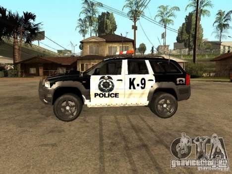 Jeep Grand Cherokee police K-9 для GTA San Andreas вид слева