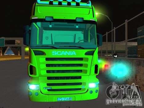Scania R620 для GTA San Andreas вид сзади