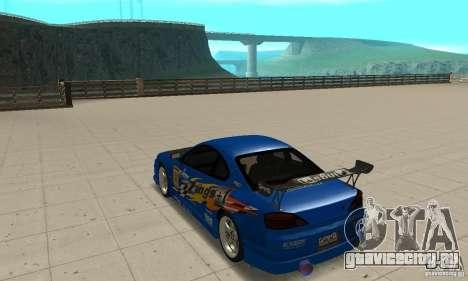 Nissan Silvia INGs +1 для GTA San Andreas вид сзади слева