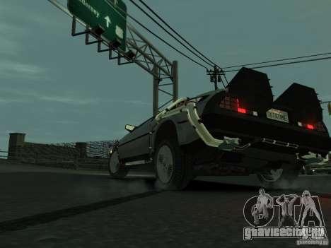 DeLorean BTTF 2 для GTA 4 вид сзади слева