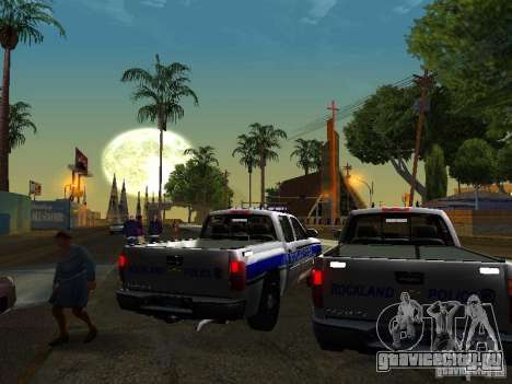 Chevrolet Silverado Rockland Police Department для GTA San Andreas вид справа