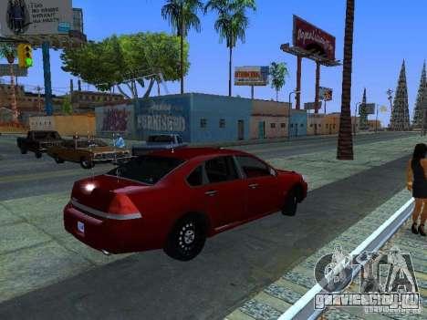 Chevrolet Impala Unmarked для GTA San Andreas вид сзади