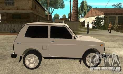 ВАЗ 21213 НИВА с тонировкой для GTA San Andreas вид сзади