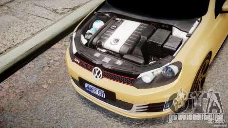 Volkswagen Golf GTI Mk6 2010 для GTA 4 вид изнутри