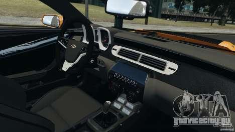 Chevrolet Camaro ZL1 2012 для GTA 4 вид сзади слева