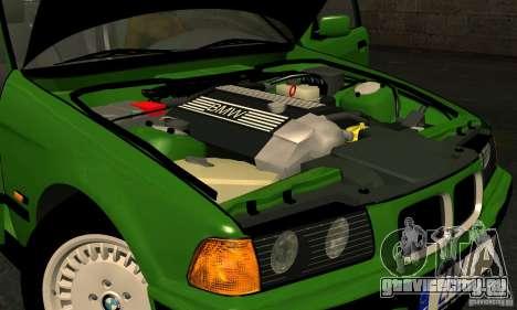 BMW E36 320i для GTA San Andreas вид изнутри